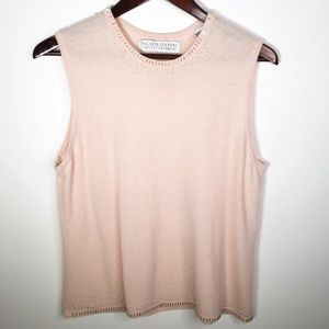 ⚡️Valerie Stevens Two Ply Cashmere Pink Top XL